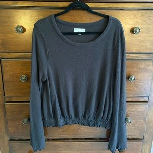 Madewell Texture & Thread Smocked Bell-Sleeve Top